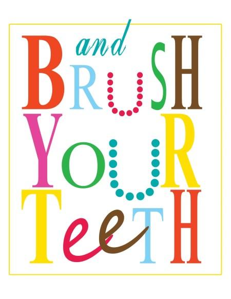 brush your teeth printable