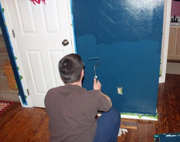 Chrvon stripe painting tutorial #Chevron #tutorial #wall (20)