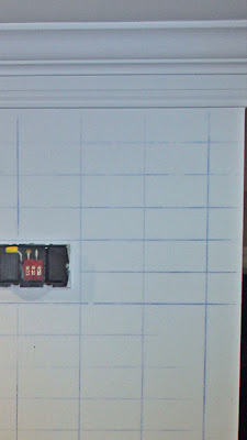 Chrvon stripe painting tutorial #Chevron #tutorial #wall (6)