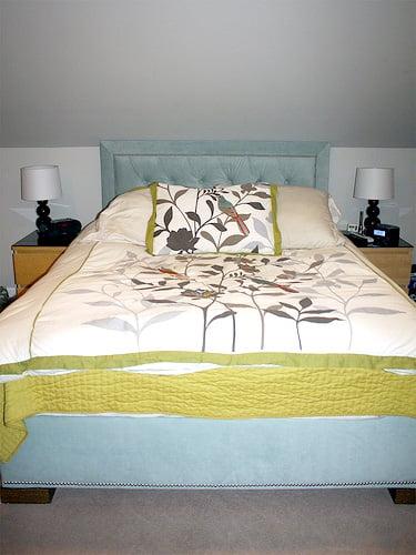 Remodelaholic Upholstered Headboard Amp Bed Frame