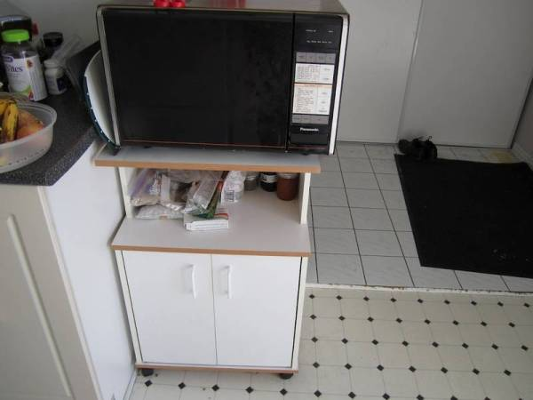Play Kitchen From Microwave Stand (1)