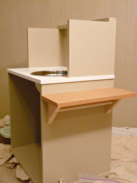Play Kitchen From Microwave Stand (2)