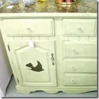 birds rose buffet-dresser
