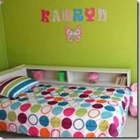 girls bright bedroom