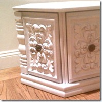 spray painted end table