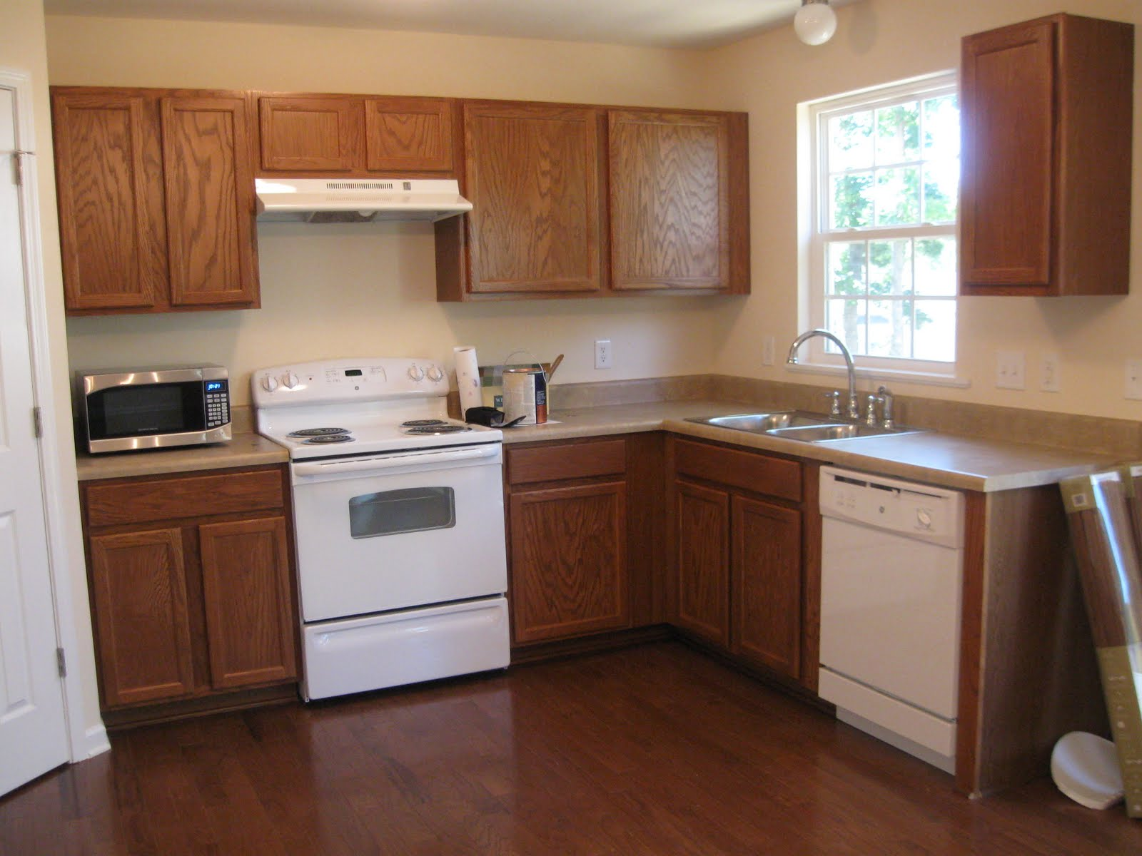 2 Paint Oak Kitchen Cabinets White And Gray, Mom And Her Drill Featured On @
