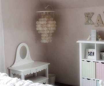 Girls bedroom In Pink Clay, RA 124