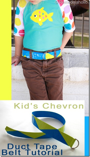 Chevron Stripe Duct Tape belt Tutorial copy