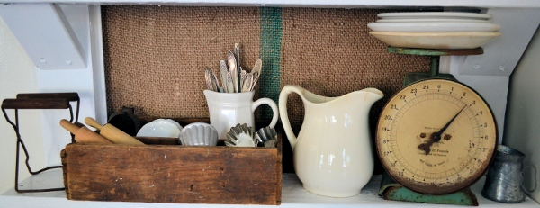 Vintage Door Use As Display Shelving