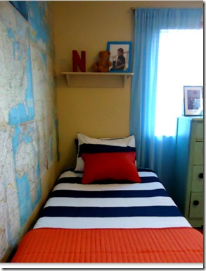 Boys Bedroom Oragne Accents