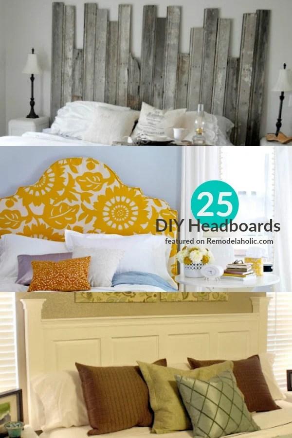 25 Best Headboards Featured at Remodelaholic & 25 Great DIY Headboard Ideas