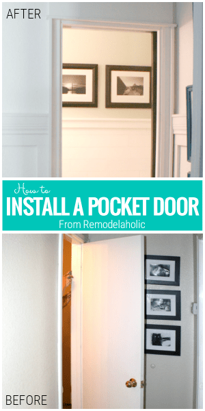 How To Install A Pocket Door Tutorial From Remodelaholic