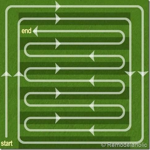 Mowing Tips Diagram