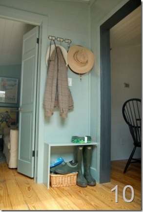 Small simple mudroom