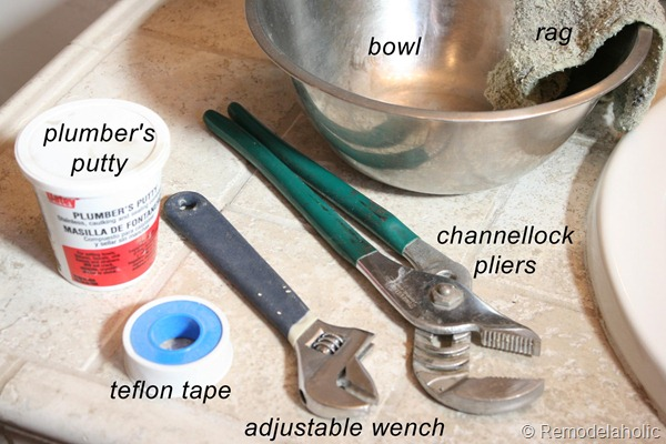 bathroom faucet install tools used copy