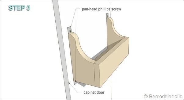 cabinet door storage bin STEP 5