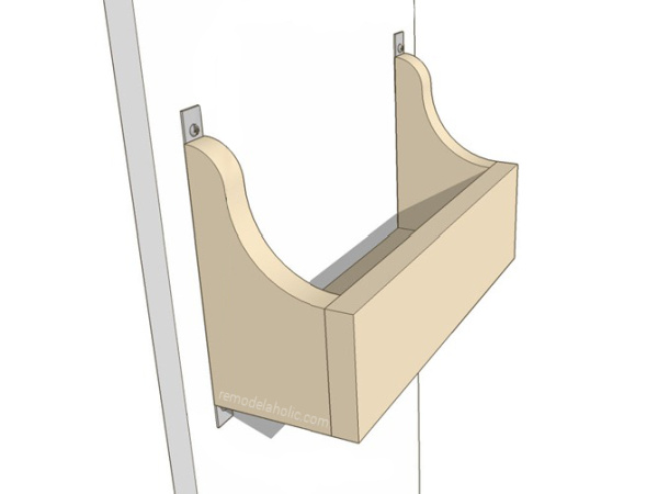 Diy Cabinet Door Storage Bin Plans To Build Your Own Under Sink Storage And Organize Cabinets #remodelaholic