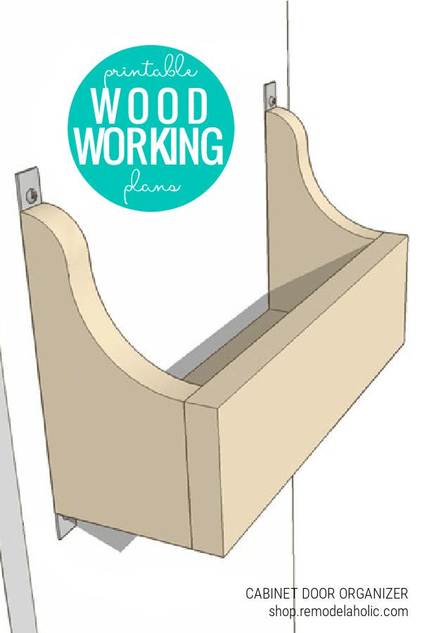 Easy Cabinet Door Storage Bin Woodworking Plans, Remodelaholic