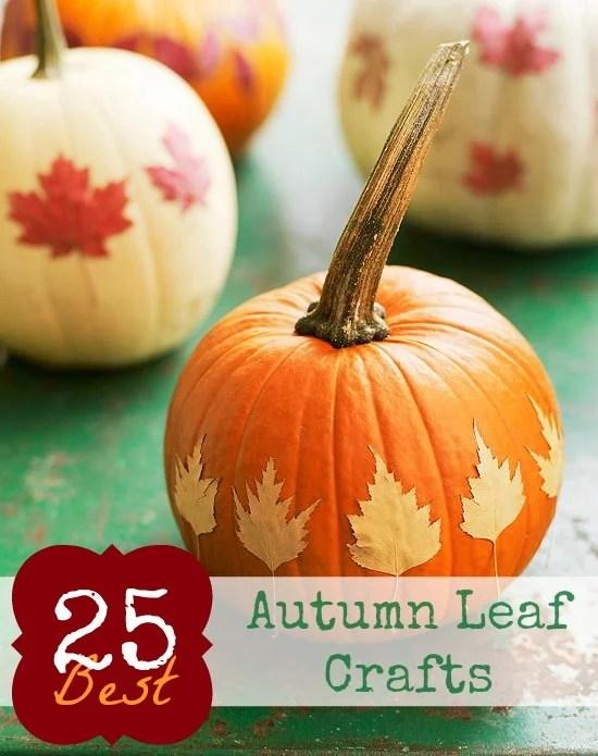Autumn Leaf Crafts Pinterest Pic