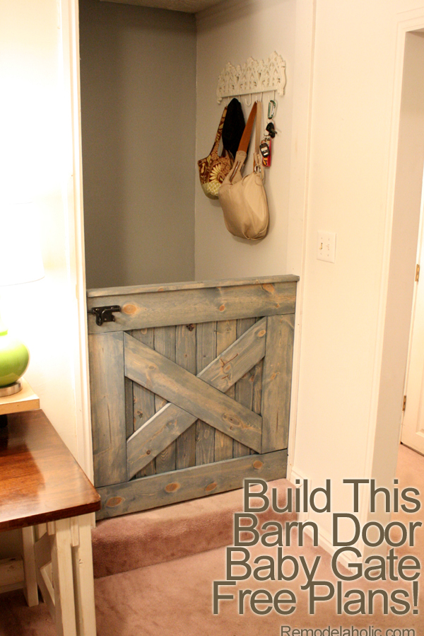Barn Door Baby Gate for Stairs 5