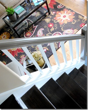 carpet to wood stair transformation