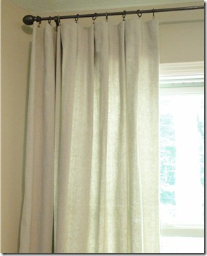 drop cloth curtians tutorial