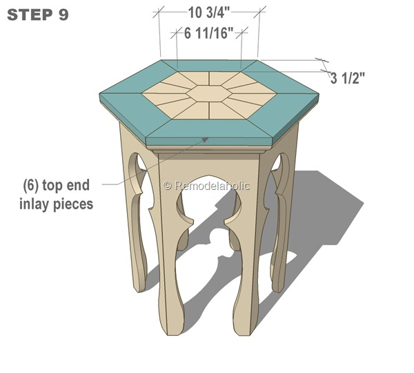free moroccan side table plans step 9