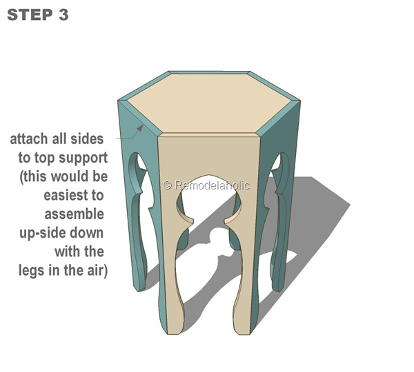 free moroccan side table plans step 3