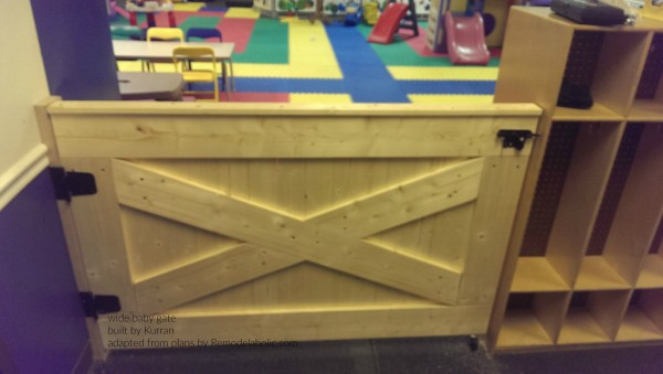Wide Barn Door Baby Gate With Caster Wheel, Building Plan By Remodelaholic