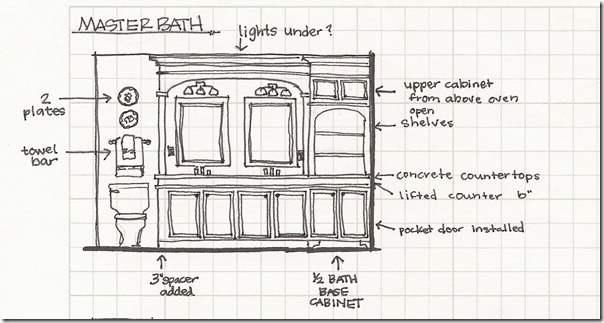 Bathroom elevation sketch2