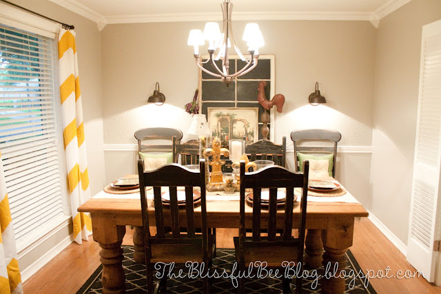 Large scale Yellow chevron curtains