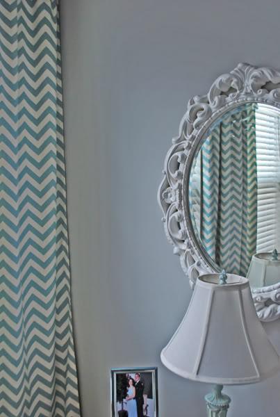 blue chevron curtains