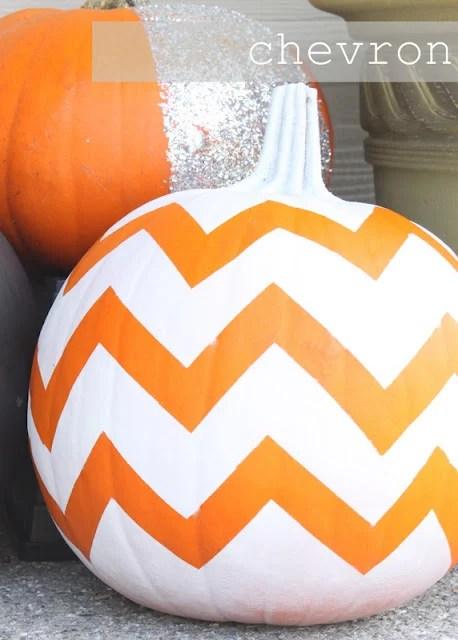 Chevron pumpkins