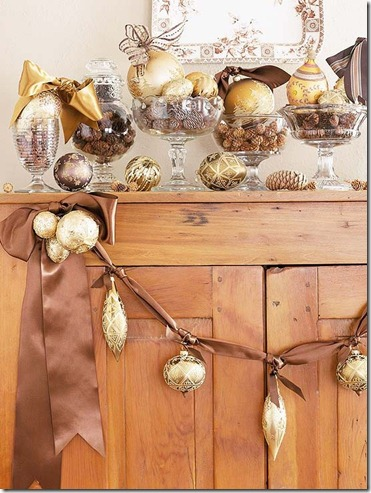 BHG brown and gold garland