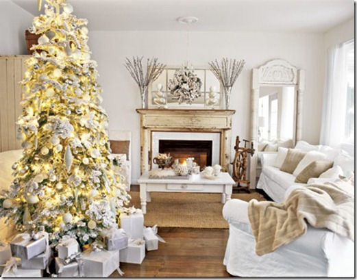 Country Living, silver and gold living room