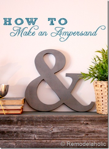 DIY Ampersand decoration pin button