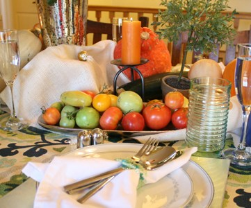 Fall Bounty; Thanksgiving Tablescape