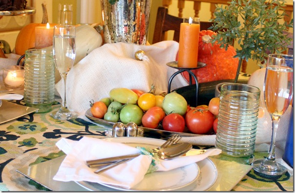 Fall Bounty tablescape Thanksgiving Table setting (8)