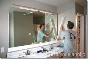 Framing a large bathroom mirror (15)