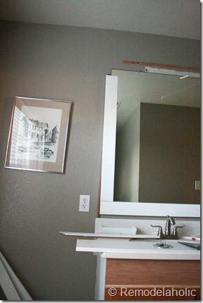 Framing a large bathroom mirror (17)