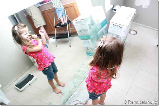 Framing a large bathroom mirror (5)