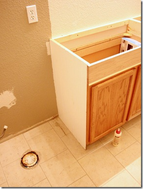 How to Add height to a short bathroom vanity (28)