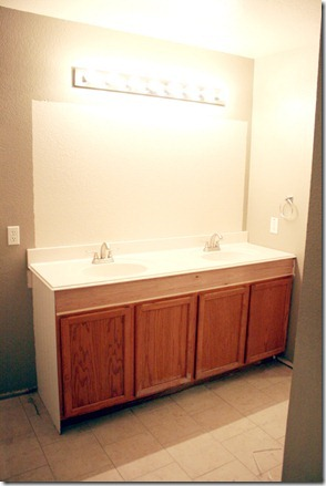How to Add height to a short bathroom vanity (33)