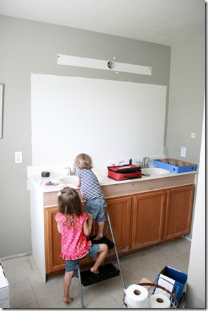 How to Add height to a short bathroom vanity (39)
