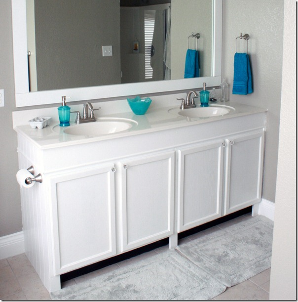 How to Add height to a short bathroom vanity (51)