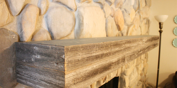 Magnificent Remodelaholic Installing A Wood Mantel On A Stone Wall Download Free Architecture Designs Ferenbritishbridgeorg