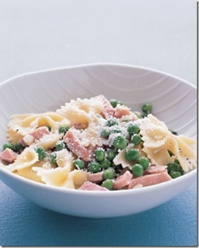Martha Stewart Bow ties with peas and ham