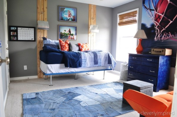 diy simple boys bed teen boy room makeover, cleverly inspired @remodelaholic