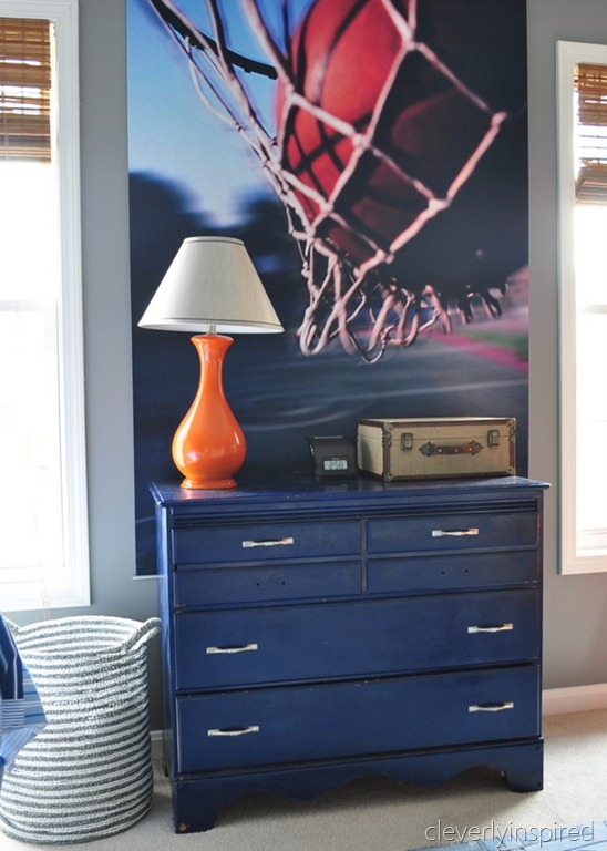 orange lamp accent boys room orange and gray boys room, cleverly inspired @remodelaholic