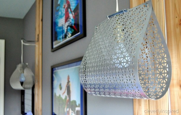 super cool creative diy light fixture for teen boys room, cleverly inspired @remodelaholic